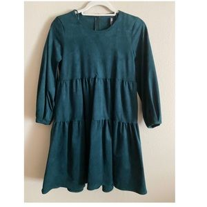Zara Velvet Teal Green Dress
